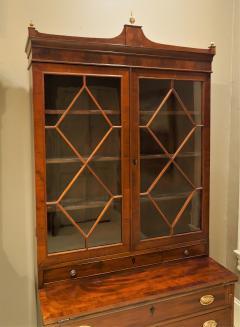 Federal Hepplewhite Secretary Bookcase Circa 1800 Mid Atlantic - 1687466