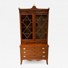 Federal Hepplewhite Secretary Bookcase Circa 1800 Mid Atlantic - 1688920