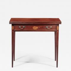 Federal Inlaid Card Table - 350665