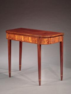 Federal Inlaid Card Table - 635186