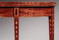 Federal Inlaid Demi Lune Card Table - 678632