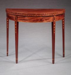 Federal Inlaid Demi Lune Card Table - 678633