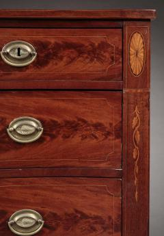 Federal Inlaid Serpentine Chest of Drawers - 358038