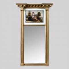 Federal Mirror with Eglomise Panel - 416496