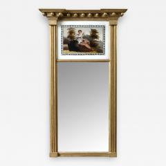 Federal Mirror with Eglomise Panel - 416971