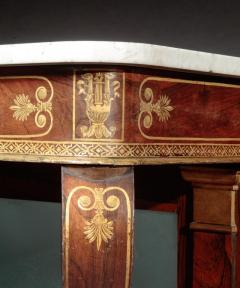 Federal Stencil Decorated Marble Top Pier Table - 678609