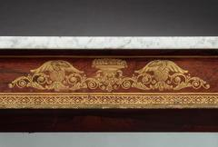Federal Stencil Decorated Marble Top Pier Table - 678610