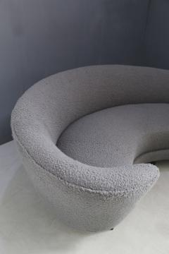 Federico Munari Curva sofa by Federico Munari in grey boucl fabric 1950s - 1487354