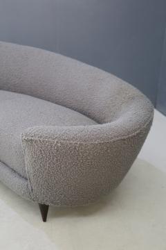 Federico Munari Curva sofa by Federico Munari in grey boucl fabric 1950s - 1487355