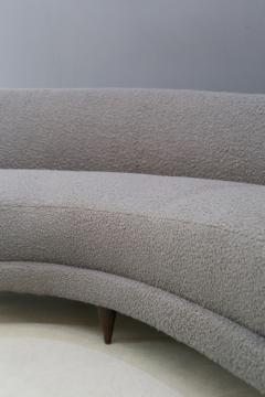 Federico Munari Curva sofa by Federico Munari in grey boucl fabric 1950s - 1487357