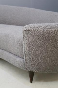 Federico Munari Curva sofa by Federico Munari in grey boucl fabric 1950s - 1487358
