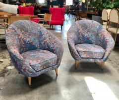 Federico Munari Federico Munari Mid Century Italian Curved Lounge Chairs 1958 - 514645