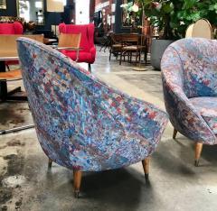 Federico Munari Federico Munari Mid Century Italian Curved Lounge Chairs 1958 - 514648