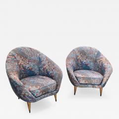 Federico Munari Federico Munari Mid Century Italian Curved Lounge Chairs 1958 - 521003
