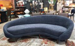 Federico Munari Federico Munari Mid Century Italian large curved sofa 1950s Re Upholstery - 963212