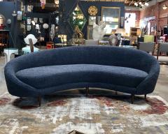Federico Munari Federico Munari Mid Century Italian large curved sofa 1950s Re Upholstery - 963213