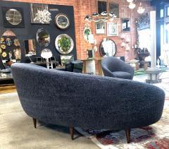 Federico Munari Federico Munari Mid Century Italian large curved sofa 1950s Re Upholstery - 963217
