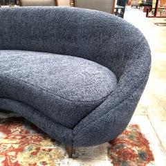 Federico Munari Federico Munari Mid Century Italian large curved sofa 1950s Re Upholstery - 963218