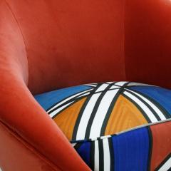 Federico Munari Federico Munari Mid Century Modern Velvet Pair of Italian Armchairs - 1087727