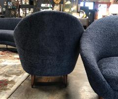 Federico Munari Federico Munari chairs Mid Century Italian Curved Lounge Chairs 1958 - 964890