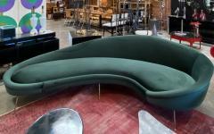 Federico Munari Italian Sculptural Sofa in Velvet Attributed to Federico Munari Italy 1950s  - 1764553