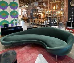 Federico Munari Italian Sculptural Sofa in Velvet Attributed to Federico Munari Italy 1950s  - 1764554