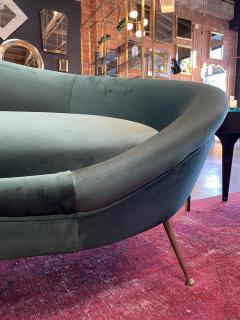 Federico Munari Italian Sculptural Sofa in Velvet Attributed to Federico Munari Italy 1950s  - 1764558