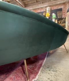 Federico Munari Italian Sculptural Sofa in Velvet Attributed to Federico Munari Italy 1950s  - 1764561