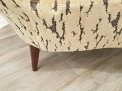 Federico Munari Pair of Federico Munari Italian Midcentury Ivory Charcoal Velvet Lounge Chairs - 768914