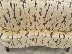 Federico Munari Pair of Federico Munari Italian Midcentury Ivory Charcoal Velvet Lounge Chairs - 768915