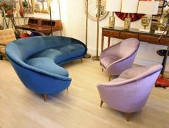 Federico Munari Pair of Mid Century armchairs Italian design by Federico Munari - 1380961