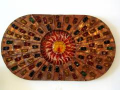 Felipe Derflinger A Rare And Monumental Size Copper and Hand Blown Glass Illuminated Wall Panel - 1209783