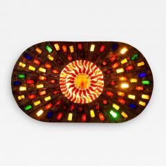 Felipe Derflinger A Rare And Monumental Size Copper and Hand Blown Glass Illuminated Wall Panel - 1223598