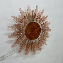 Felipe Derflinger Feders Fabulous Sun Flower Glass Wall Sconce by Felipe Delfinger Mexico 1970s - 1983033