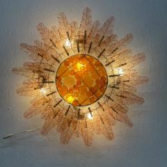 Felipe Derflinger Feders Fabulous Sun Flower Glass Wall Sconce by Felipe Delfinger Mexico 1970s - 1983035