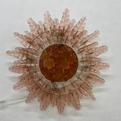 Felipe Derflinger Feders Fabulous Sun Flower Glass Wall Sconce by Felipe Delfinger Mexico 1970s - 1983037