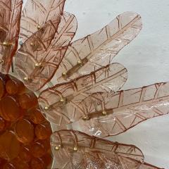Felipe Derflinger Feders Fabulous Sun Flower Glass Wall Sconce by Felipe Delfinger Mexico 1970s - 1983039