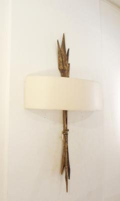 Felix Agostini Pair of bronze wall lights by F lix AGOSTINI 1960  - 965598