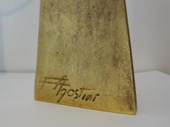 Felix Agostini Pair of gilt bronze peacock lamps by Felix AGOSTINI 1960s  - 1005666