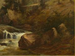 Feodor von Luerzer Lester River Duluth 1890 Landscape Painting by Feodor von Luerzer - 1117315