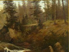 Feodor von Luerzer Lester River Duluth 1890 Landscape Painting by Feodor von Luerzer - 1117316