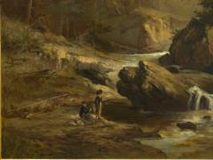 Feodor von Luerzer Lester River Duluth 1890 Landscape Painting by Feodor von Luerzer - 1117317