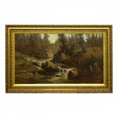 Feodor von Luerzer Lester River Duluth 1890 Landscape Painting by Feodor von Luerzer - 1117318