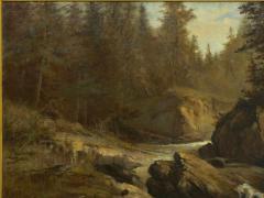 Feodor von Luerzer Lester River Duluth 1890 Landscape Painting by Feodor von Luerzer - 1117322