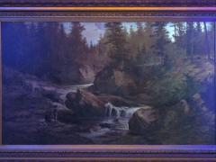 Feodor von Luerzer Lester River Duluth 1890 Landscape Painting by Feodor von Luerzer - 1117324