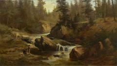 Feodor von Luerzer Lester River Duluth 1890 Landscape Painting by Feodor von Luerzer - 1117414