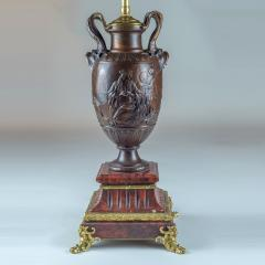 Ferdinand Barbedienne A Fine Pair of Neo Classical Revival Bronze Urns Mounted as Lamps - 2034310