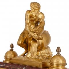 Ferdinand Barbedienne Antique red marble and gilt bronze inkstand by Barbedienne after Caffieri - 1290621