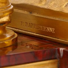 Ferdinand Barbedienne Antique red marble and gilt bronze inkstand by Barbedienne after Caffieri - 1290623