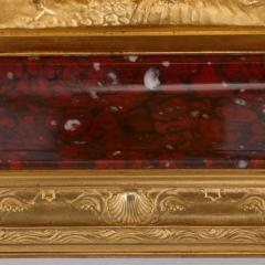 Ferdinand Barbedienne Antique red marble and gilt bronze inkstand by Barbedienne after Caffieri - 1290624